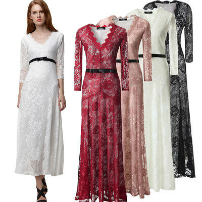 New Women Lace Evening Formal Cocktail Party Ball Gown Prom Bridesmaid Dress