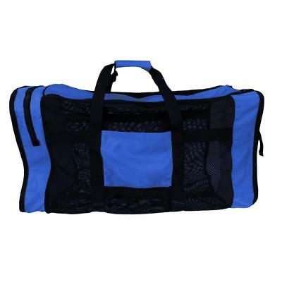 """Mesh Luggage Bag 35""""x16"""" Large for Diving Scuba Water Sports Bag Blue"""