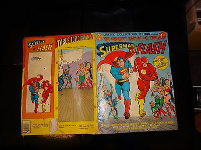 Limited Collectors Edition Superman vs Flash The Greatest Race DC 1976 C-48