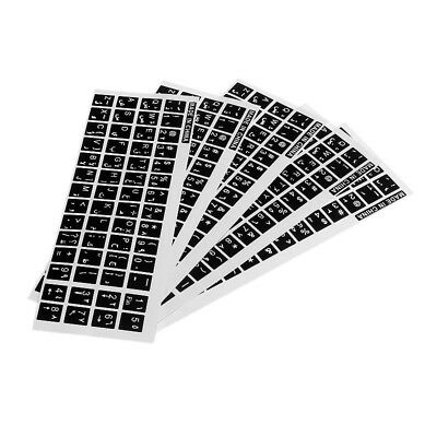 5 x Arabic Letter Silicone Keyboard Cover Skin Protectors Sticker for Laptop PC