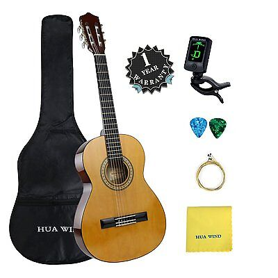 Classic Guitar Kit 36 39 inch Classic Guitar with Gig Bag Tuner Capo Picks