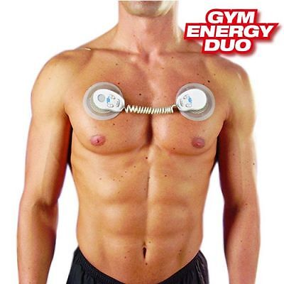 Gym Energy Duo Electrostimulator, Electric Muscle Builder Body Toner Fat Loss
