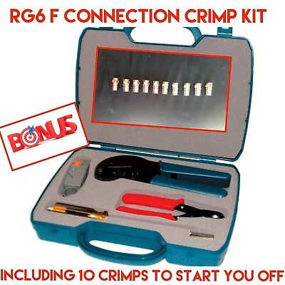 rg6 crimp tool kit UHF digital diy professional Matchmmaster Quad shield quality