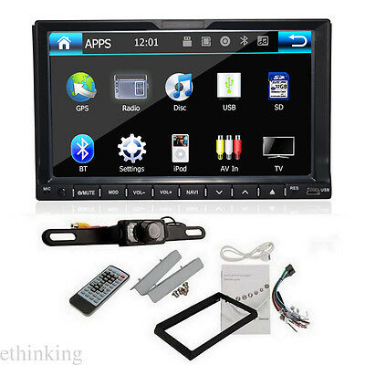 7 inch Double 2 DIN Car DVD Player Stereo for Nissan universal GPS BT CD Radio