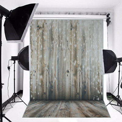 3x5FT Glitter Wood Wall Floor Photography Backdrops Background For Studio Props