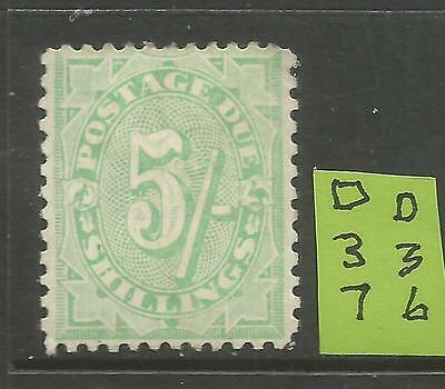 Aust. Postage Due 1908 5/- (Stroke) Green MLH  L%$K D36