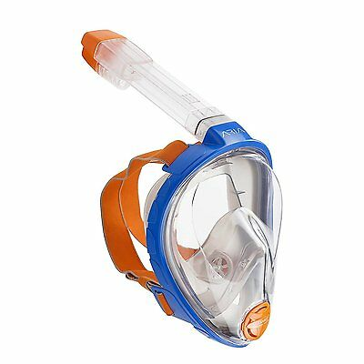 Ocean Reef Aria Blue Snorkeling Full Face Mask Scuba Diving Anti-Fog Snorkel