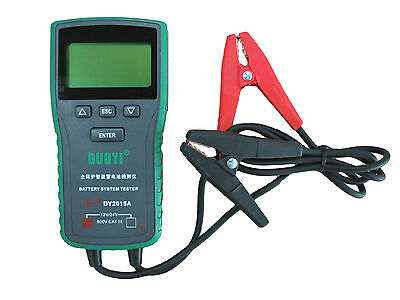 Digital Automotive Vehicle Car Battery Tester 12V&24V Battery CCA Analyzer 4in1