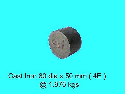 Cast Iron 80 dia x 50 mm ( 4E )-Lengths-Lathe-Mill-Steam-OG
