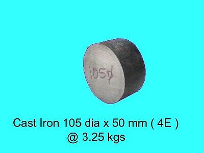 Cast Iron 105 dia x 50 mm ( 4E )-Lengths-Lathe-Mill-Steam-OG