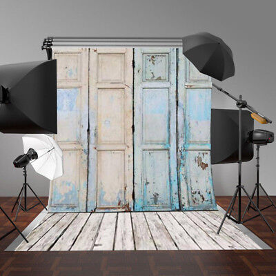 5x3FT Vinyl Backdrop Newborn Retro Wood Wall Background Photography Studio Props
