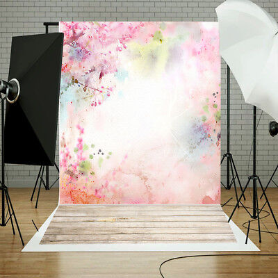 Clouded Flowers Newborn Baby Photography Backdrops 5x3FT Vinyl Photo Background