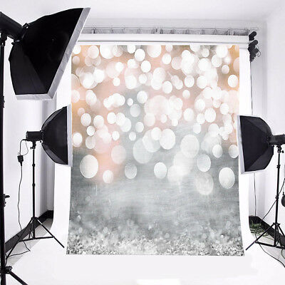 Glitter Bokeh 5x3FT Vinyl Photography Backdrop Photo Background For Studio Props