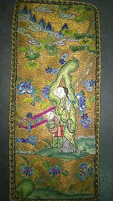Antique Chinese Silk Emroidery, finest work, China 19th century