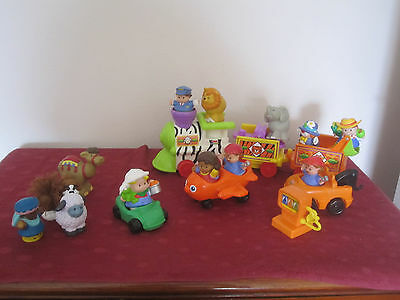 Fisher Price Little People collection incl safari train (musical), plane, people