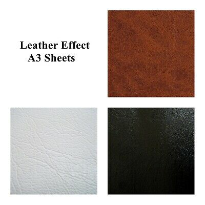 A3 Leather Sheet Self Adhesive Sticky Back Vinyl Craft Faux Leatherette DC FIX