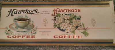 1915-1920 1 Pound Hawthorn Steel Cut Coffee Can/Tin Label I ONLY SELL ORIGINALS