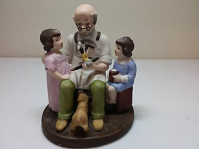 """Vintage Norman Rockwell Figurine - 1979 """"The Toymaker"""""""