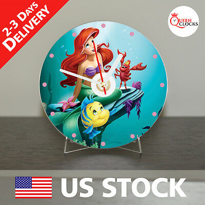 The Little Mermaid Disney Gift CD Clock - Gift for Kids, Girls and Boys From USA