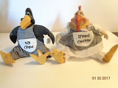 Russ Berrie & Co. Old Crow Spring Chicken Stuffed Decor Kathleen Kelly Critters
