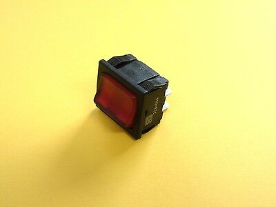 Mains Rocker Switch On Off DPST Red 15A 240v