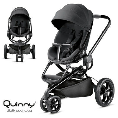 Quinny Kinderwagen Buggy Moodd - Black Devotion (inkl. Regenverdeck + Adapter)