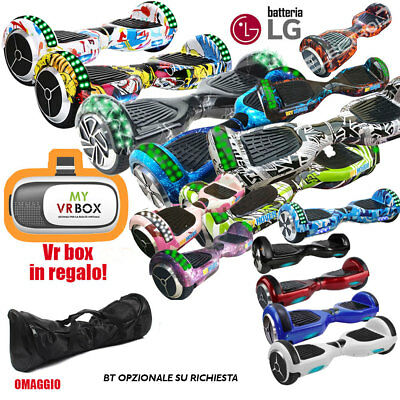 """Hoverboard 6,5"""" Overboard Luci Bt Altoparlante Bluetooth Oro Rosa Bianco Ross"""