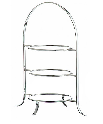 3 Tier Silver Cake Stand