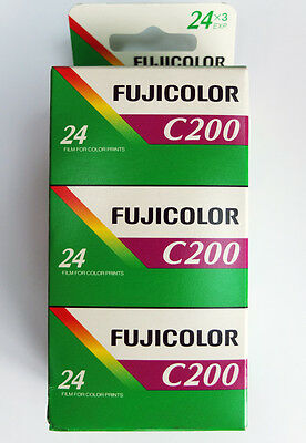 Fujifilm Fujicolor C200 135-24 Colour Negative  Film - 3 Roll Pack Dated 06/2017