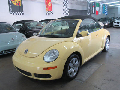 2007 Volkswagen Beetle-New 2dr Automatic 67000 MILES FLORIDA 2 OWNER CLEAN CARFAX NONSMOKER YELLOW BLACK LEATHTER AND TOP