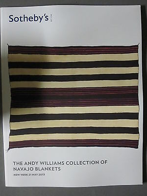 Sotheby 5/21/13 Andy Williams collection of antique  NAVAJO BLANKETS