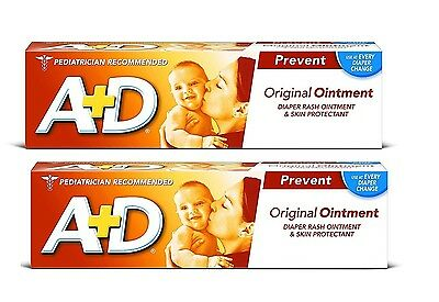 2 PACK A+D Original Ointment, Diaper Rash & Skin Protectant, 4 oz. EACH