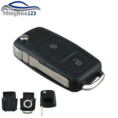 For VW VOLKSWAGEN MK4 GOLF Passat Replace 2Button Folding Remote Key Shell Case