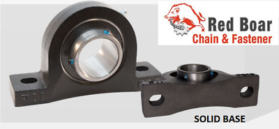 """1"""" Pillow Block Bearings UCP-205-16S (QTY 2) Quality Cast Iron Solid Base"""