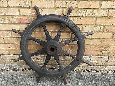 Fabulous 19th Century Ships Wheel