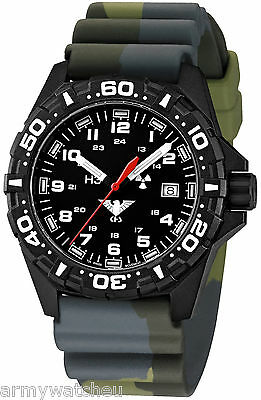 KHS Tactical Watches Reaper Red Trigalights Date Camouflage Band KHS.RE.DC3