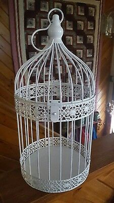 White Metal ♡ Bird Cage Gift Table Center Piece For Wedding $$$ ♡ Vintage Style