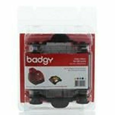 Badgy BDG204EU YMCKO Ribbon - 100 Prints  Evolis Badgy1 (First Gen)+Cleaning Kit