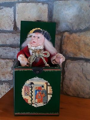 Scrooge Jack In The Music Box Dept 56 Collectible Vintage Christmas Carol 1987 S