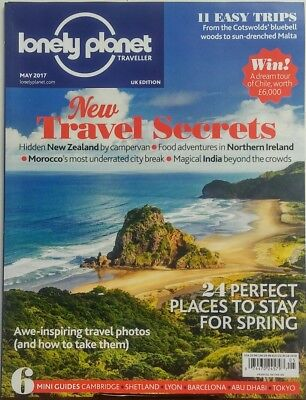 Lonely Planet Traveller UK May 2017 New Travel Secrets Morocco FREE SHIPPING sb