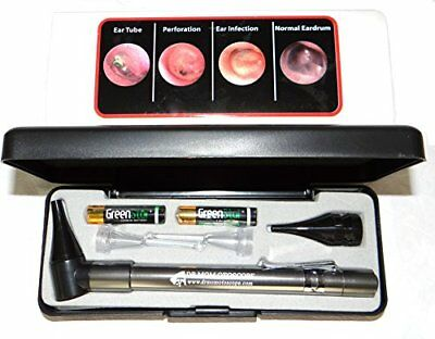 LIGHTED Ear Curettes plus HARD CASE-Third Generation Dr Mom Slimline Stain..