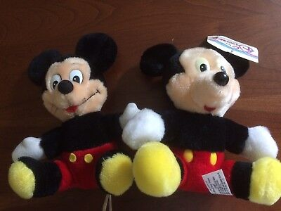 2 Disney Mickey Mouse Plush Lot, 1 with tag
