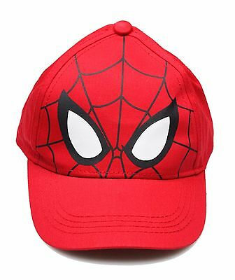 New Youth Boys Child Marvel Spider-Man Red Baseball Cap Hat Adjustable One Size