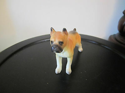 "Vintage RELCO Bisque Porcelain BOXER Dog Figurine Japan 5"" x 4"" Hand Painted"