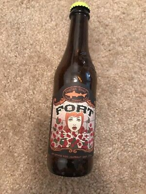 Dogfish Head Fort Empty Beer Bottle RARE Collector Collection