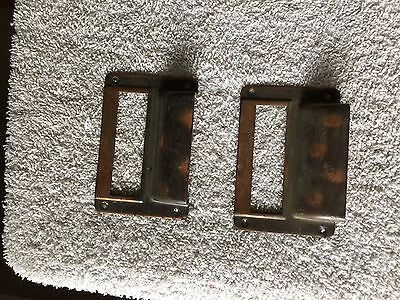 2 Vintage Copper Card File Cabinet Box Drawer Label Holder 3 By 2 Inch
