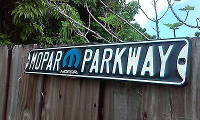 Mopar Parkway Metal Sign Raised Letters 20 By 3.5 Inches Gas And Oil Man Cave