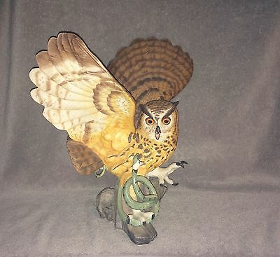 Franklin Mint The Eagle Owl George Mcmonigle Snake Excellent Condition