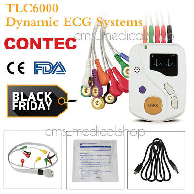 FDA CE Single Channel 12 lead electrocardiograph with Printer,USA warehouse