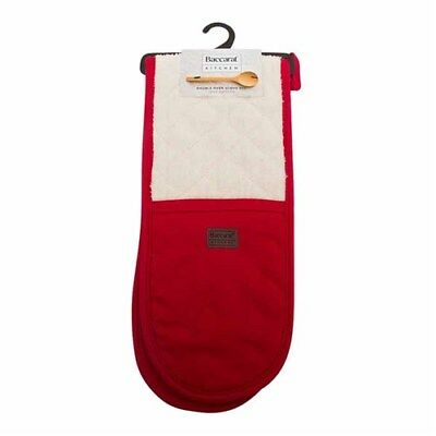Baccarat Kitchen Double Oven Glove Red Brand New